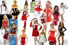 ADULT SANTA CLAUS FATHER CHRISTMAS XMAS LADIES FANCY DRESS COSTUME OUTFIT NEW