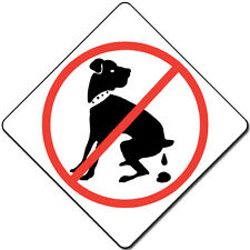 "6"" x 6"" No Dog Pooping and Peeing Aluminum Signs"