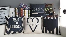 black love you forever heart funny loading words cushion cover throw pillow case