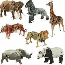 3D Wild Animal Puzzle with wind up motor toy, child's Christmas stocking filler