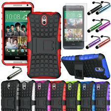 For HTC Desire 610 Hybrid Hard Cell Phone Case+Soft Silicone Cover Kickstand