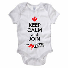 KEEP CALM AND JOIN THE EH TEAM - Canada / Canadian / Funny Themed Baby Grow/Suit