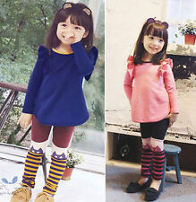 Newest Cheap Kids Toddler Girls Clothing Tops Leggings Pants Outfits Sets Sz3-8Y