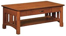 Amish Occasional Table Set Mission Solid Wood Furniture Coffee Sofa End
