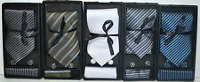 100% Silk New Men tie set Necktie+Cufflinks+Hanky with matching gift box