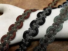 "VINTAGE METALLIC SOUTACHE TRIM 3/4"" Scallop Edge 1yd Made in Germany"