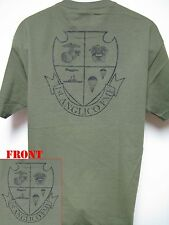 1ST ANGLICO T-SHIRT/ MILITARY/ USMC/ NEW/ MANY COLORS/ THICK T-SHIRT/ VETERAN