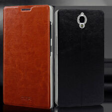 Nice Leather flip Case Cover for For Alcatel one touch Idol X+ / OT 6043D 6043A