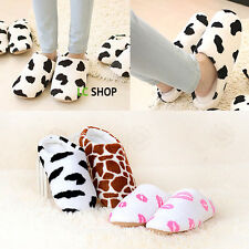 Lip Cow Deer Printing Non-slip Slippers Cotton Sandal House Home Anti-slip Shoes