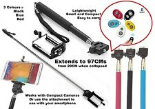 Monopod Selfie Stick Telescopic With Bluetooth Wireless Remote Phone holder