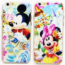 Disney Color Minnie Mickey Mouse Rigid Plastic Back Case For iPhone 6 / 6 Plus