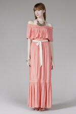 Flying Tomato Pink Flamingo Maxi Dress With Lace Tape Mix
