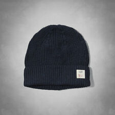 Abercrombie & Fitch men Navy blue Supersoft Knit Beanie Hat