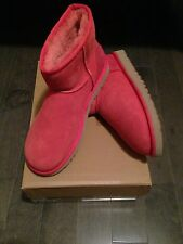 Women UGG Australia Classic Mini Boots RED Free Christmas gift sheepskin Insoles
