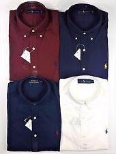 Mens Ralph Lauren Polo Custom Fit Classic Poplin Shirt - Black, Blue, White