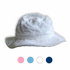 Terry Towel Towelling BUCKET HAT White/Navy/Sky/Pink Washable Camping  Fishing