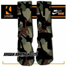 JORDAN JUMPMAN Custom Nike Elite Socks basketball chicago bulls jordan camo