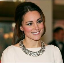 JEWEL CRYSTAL STATEMENT NECKLACE PRINCESS KATE SOLD OUT RUNWAY CHIC Zara
