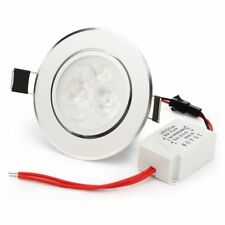 Dimmable 3x1W CREE LED Ceiling Spotlight Recessed Down Lamp Bulb with Driver HOT