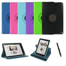 360 Rotating Leather Case Cover Stand for BARNES & NOBLE Nook HD+ 9 Inch +Stylus