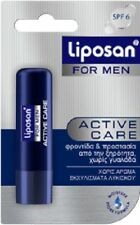 LIPOSAN / LABELLO ACTIVE LIP CARE FOR MEN WITHOUT COLOUR & TINTS IN BLISTER CARD