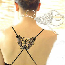 Chic Women Ladies Sexy Underwear Butterfly Rhinestone Bra Shoulder Cross Straps