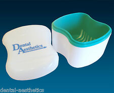 Denture Bath ~ Dental Appliance Box Storage Case, Ideal for Cleaning Dentures