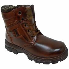 Five Star FL-32 Mens Brown Winter Warm Lined  Lace Up Winter Snow Boots
