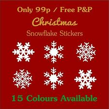 99p Christmas Snowflakes Value Pack, Vinyl Sticker Decoration Decal Xmas Decor
