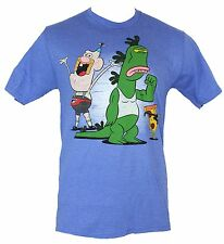 Uncle Grampa Mens T-Shirt - Distressed Cartoon Cast Image Blue