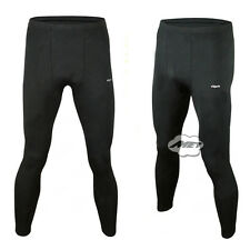 Mens Winter Sports Fleece-Lined Warm Footless Underwear Leggings Thermal Pants