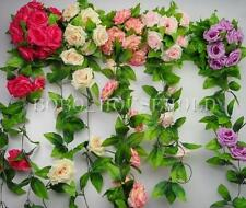 2.5m Artificial Silk Rose Flower Ivy Vine Leaf Garland Wedding Party Home Decor