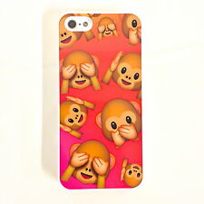 EMOJI MONKEY FACE iPhone 5 5s 5C 4 4S  6 Phone Cover Kitsch HARD CASE HAPPY