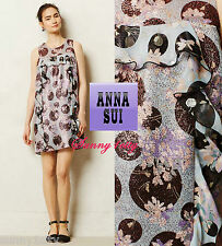 NEW 6 8 Anthropologie Cyprium Jacquard Shift By Anna Sui USA Stunning Femme $278