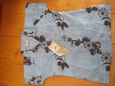 TRESPASS IOWA TROPICAL HAWAIIN PRINT BLUE TREK TRAVEL WALKING SHIRT TOP S NEW