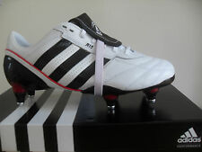 Homme Adidas Adipure R15 Chaussures De Rugby, G42339, Blanches Noires/Rouge,
