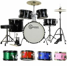 New  5 Piece Junior Childrens Complete Drum Set w Cymbal  Stool Kid Child Size