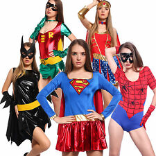 Lady Fancy Dress Girls Super Hero Girl Wonder Woman Costumes Outfit Party Adults