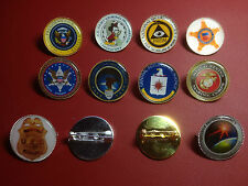 UNITED STATES GOVERNMENT AGENCY GOLD &  SILVER PLATED PIN BADGES