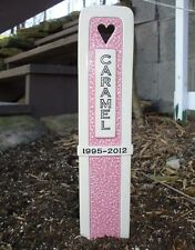 Dog Cat Pet Memorial Headstone Grave Marker With Lifespan/Date Line - 10 colors