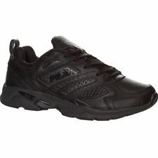 Fila Mens CAPTURE Black Athletic Comfort Lace Up Cross Training Running Shoes