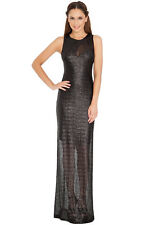 GREEN PARTY SEQUIN LONG DRESS COCKTAIL EVENING DRESS  BLACK RED