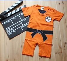 Dragonball Wukong Goku Summer Boys Baby Costume Bodysuit Outfit Clothes 0-24M