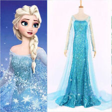 Frozen Queen Elsa Cosplay Women Dress Snow Halloween Costumes Christmas Dress