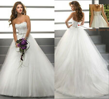 white wedding dress evening dress wholesale prom ball gown size:6-8-10-12-14-16