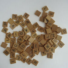 genuine wooden wood scrabble tiles- Most letters available starting at .99 each