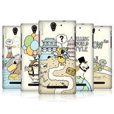 HEAD CASE DESIGNS WORLD TRAVELLERS CASE COVER FOR SONY XPERIA C3 D2533
