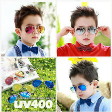Fashion Retro Children Kids Sunglasses Eyewear UV400 Boys Girls Students Aviator