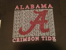 University of Alabama TEXT Shirt long sleeve   ROLL TIDE   New Licensed
