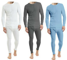 MENS THERMAL UNDERWEAR LONG SLEEVE VEST TOP & LONG JOHNS FULL SET PLUS SIZES 4XL